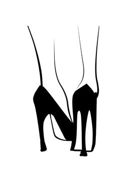 Fashionable women high heels