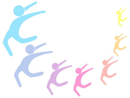 Colorful person icon line