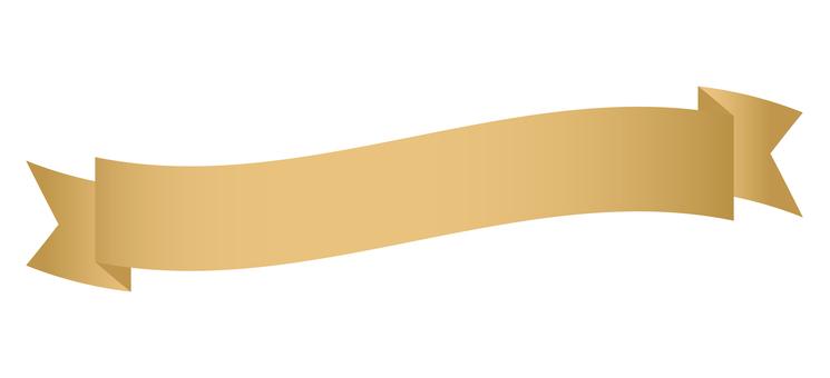 Title ribbon <Waveform / Gold>