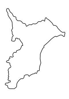 Line drawing of Chiba prefecture