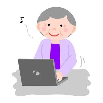 Personal computer and senior women