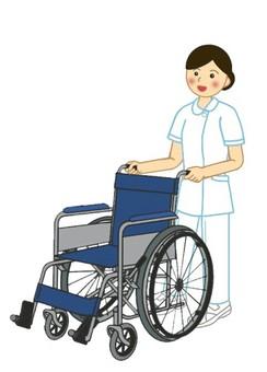 Nursing, medical scene 4 wheelchair and nurse (2)