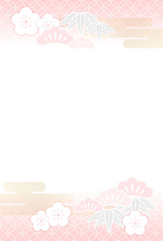 Pastel colored new year card template