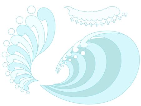 夏っぽい波のフレームセット