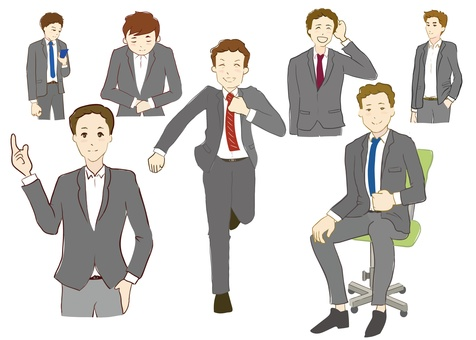 Male poses variously