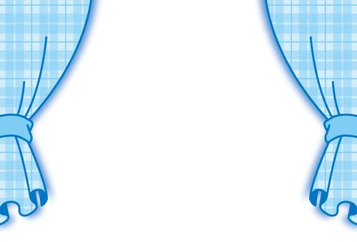 Curtain blue