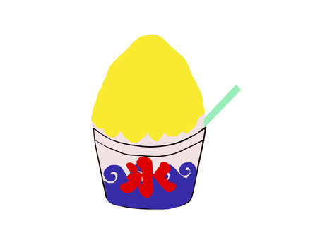 Shaved ice Lemon illustration