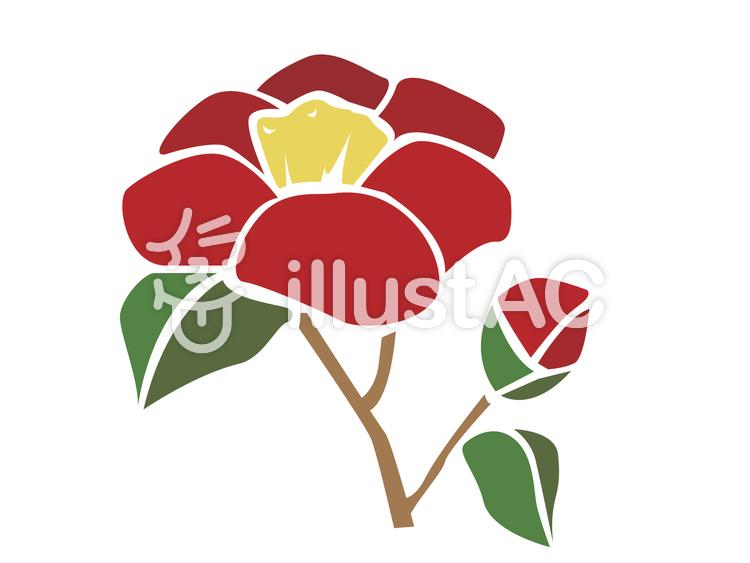 椿の花イラスト No 102623無料イラストならイラストac