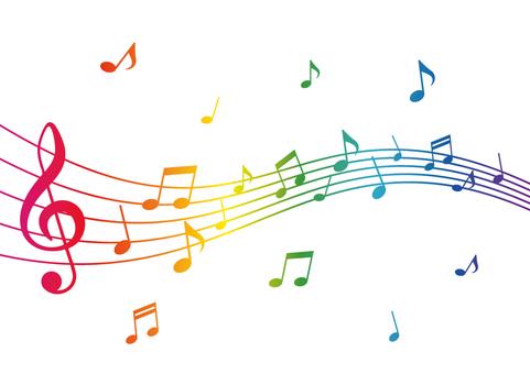 カラフルな音符イラスト