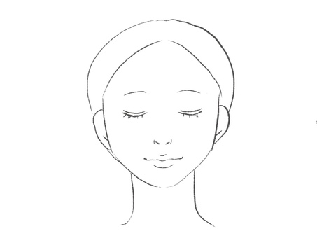 Woman face front