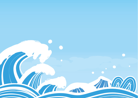 Japanese style wave image 1