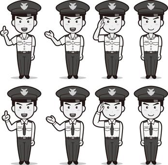 Self-Defense Force 1 (Men · Air Self Defense Force) B & W