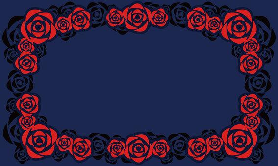 Rose frame [red]