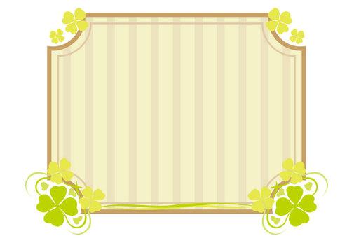 三葉草的複古框架