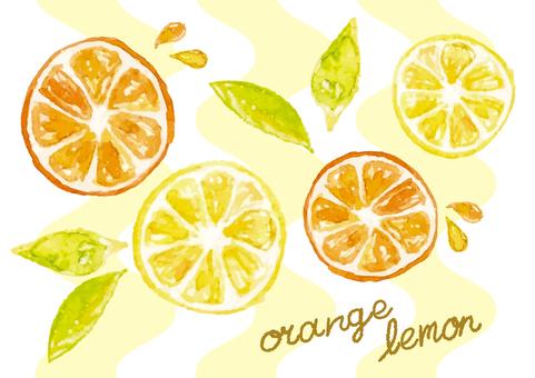 """Watercolor"" Lemon Orange 2"