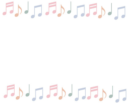 Musical note frame