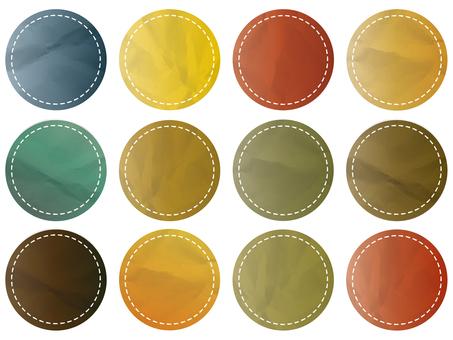 Paper sticker patch icon stitch frame