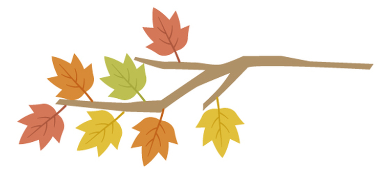 Autumn illustration material 7