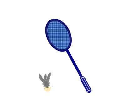 Badminton racket shuttle