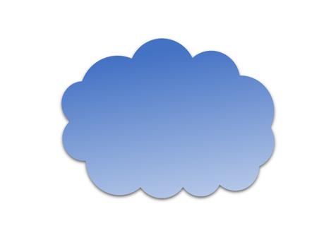 雲型의 말풍선 (파랑)