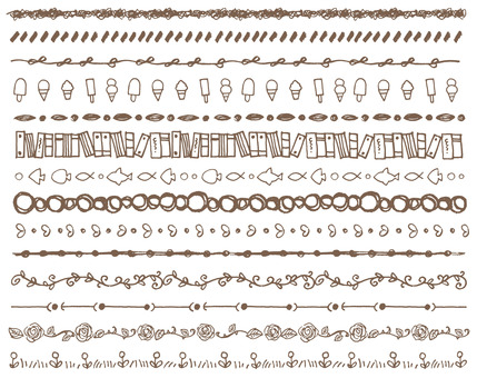 Line handwriting various