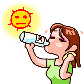 Let's drink water while being careful about heat stroke