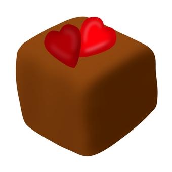 하트 오른 생 초콜릿