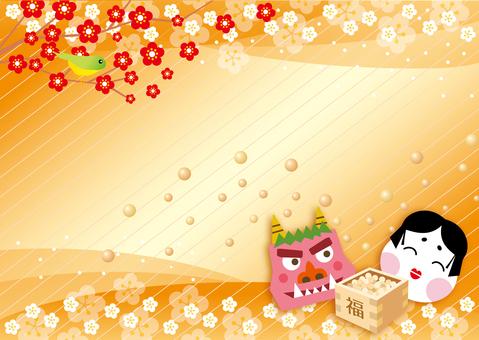 Background of February's Setsubun