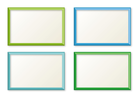 Simple frame blue green series