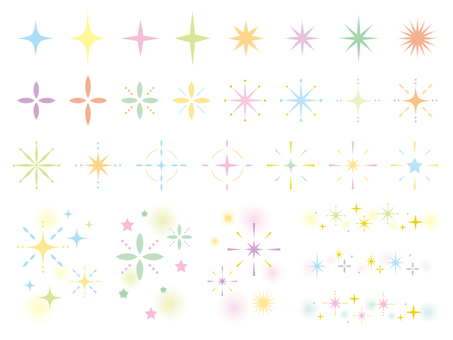 Glitter set 03 pastel color