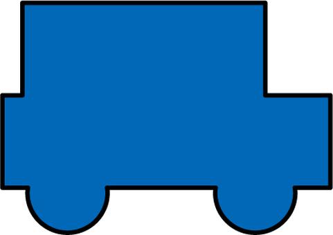 Car silhouette (blue)