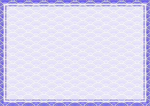 Japanese style wave frame -2