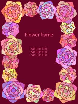 Geometric flower frame