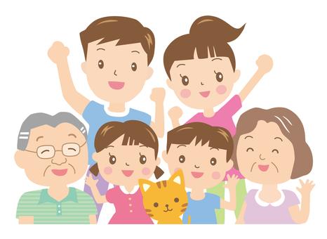 여름 가족의 미소