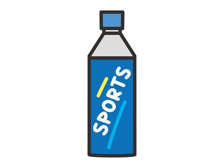 Sports drink plastic bottle