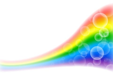 Rainbow and circle Bokeh