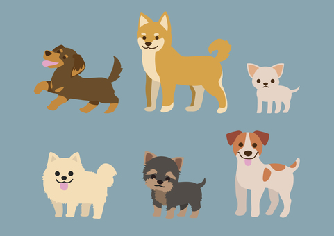 Doggy illustration set