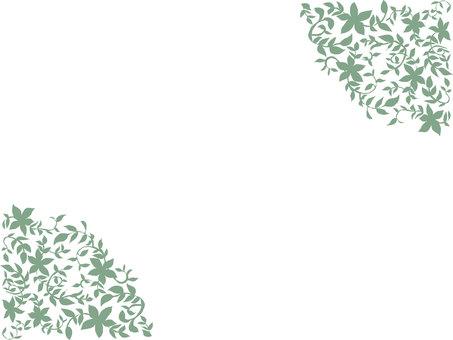 Leaf frame Green