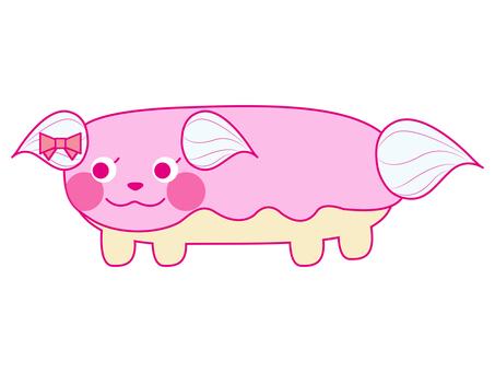 Eclair dog pink