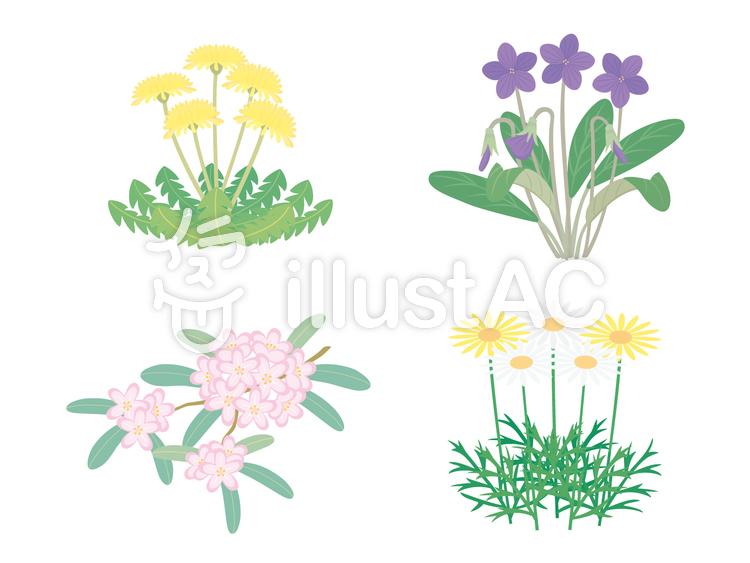4月の花たちイラスト No 428501無料イラストならイラストac