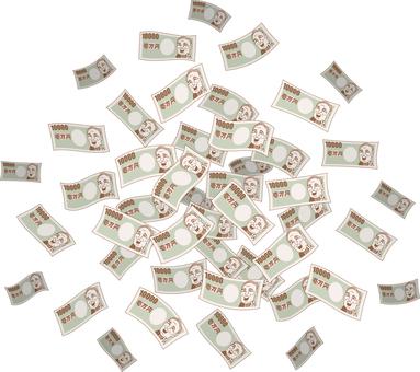 One hundred thousand yen bill big bucks