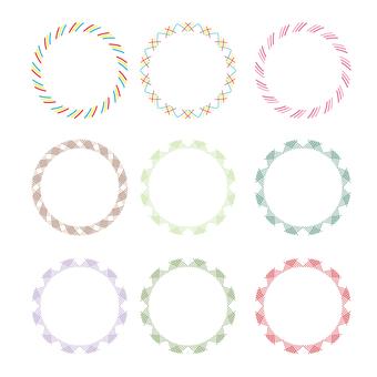 Circular material -256