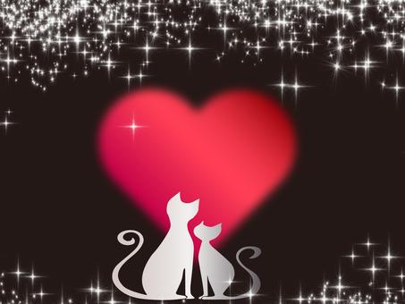 고양이의 실루엣 프레임