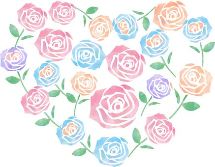 Roses _ Heart _ Pastel style