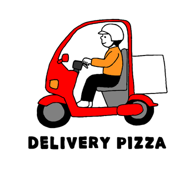 Delivery Pizza (Motorcycle Simple)