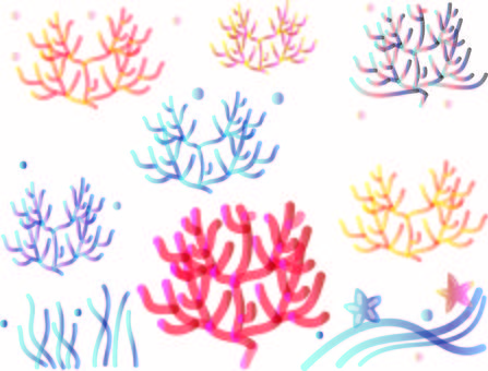 아름다운 산호 세트