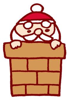 聖誕老人從煙囪裡出來