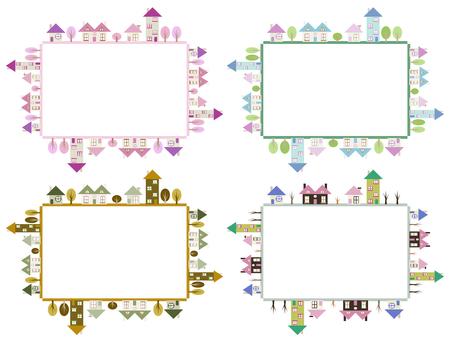 Four seasons house frame