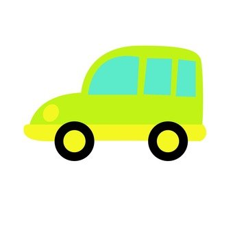Yellow green car