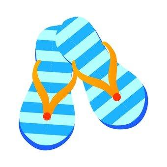Beach sandals (blue)